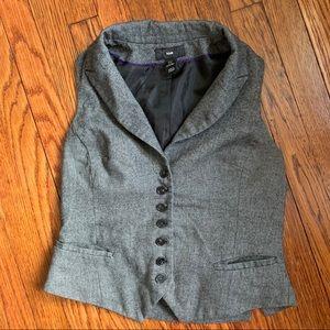 H&M Gray Button Down Vest
